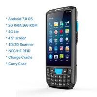 Прочный КПК Android Ручной терминал данных 1D 2D сканер штрих кода поддержка беспроводной Wi Fi 4 г Bluetooth gps склад КПК