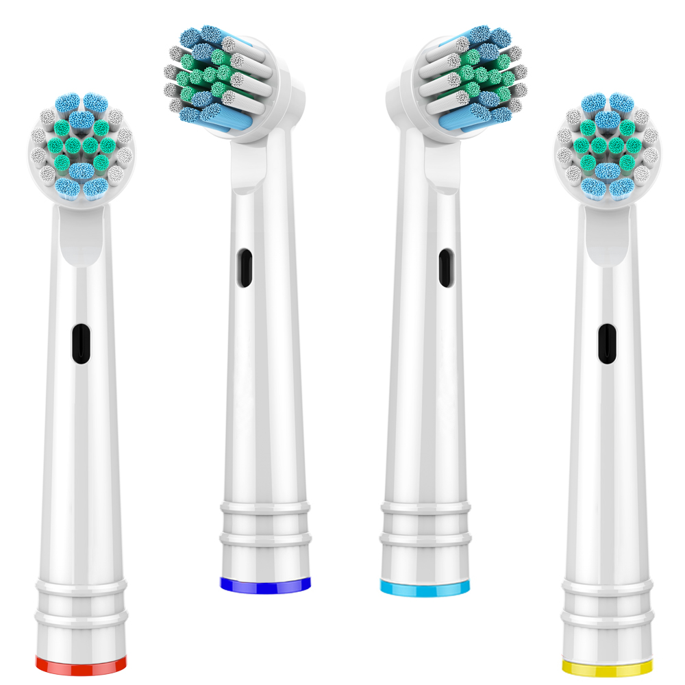 4 PCS Replacement Brush Heads For Oral B Toothbrush Heads Advance Power/Pro Health/Triumph/3D Excel/Vitality Precision Clean