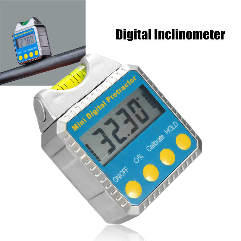 360 degree digital angle finder meter inclinometer spirit level protractor data hold bubble level gauge LED Durable Digital Inclinometer Spirit Level Protractor Angle Gauge Meter horizontal Bevel Finder Precision Tool