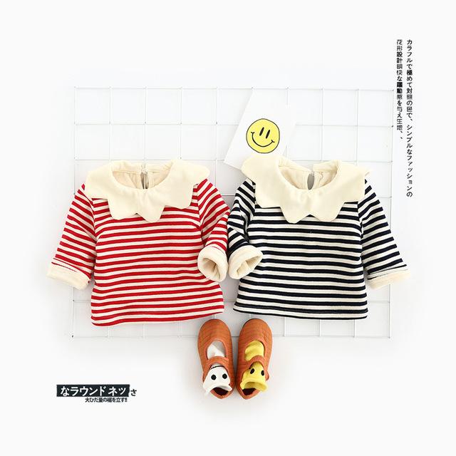 Novo outono inverno do bebê das meninas dos meninos t camisa de algodão outwear camisola de manga comprida para os meninos de banana impressão outwear encabeça a roupa do bebê