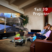 NIERBO Portable Full 3D 4K Android IMAX Wireless 500 ANSI Lumens Projector