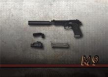 1/6 Scale Handgun Weapon Pistol Model Toy ZY2009 Three Types Pistol Model for 12