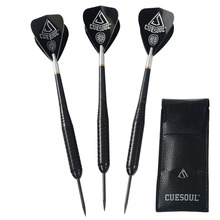 Cuesoul 23 Grams Steel Tip Brass Barrels Darts Set With Aluminum Shafts and Wallet