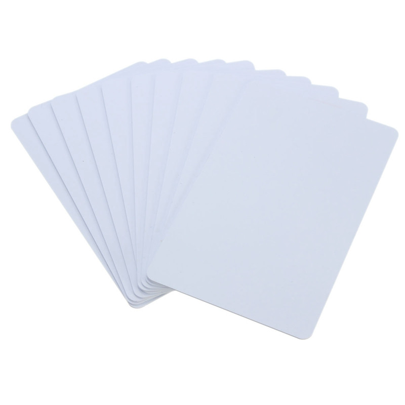 White 10pcs pack pvc nfc smart card tag s50 for ic 13 56mhz rfid readable writable