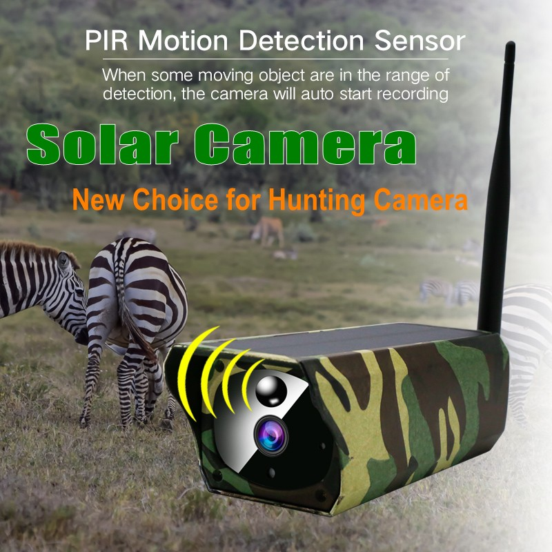 Solar IP Camera Camouflage Hunting Camera 1080P IP67 Waterproof Outdoor Wifi Security Surveillance CCTV Camrea IR Night Vision