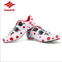 Santic Cycling Shoes PRO Carbon Fiber Road Cycling Shoes Road Bike Shoes Rotate Buckle Bicycle Shoe Zapatillas Ciclismo Men