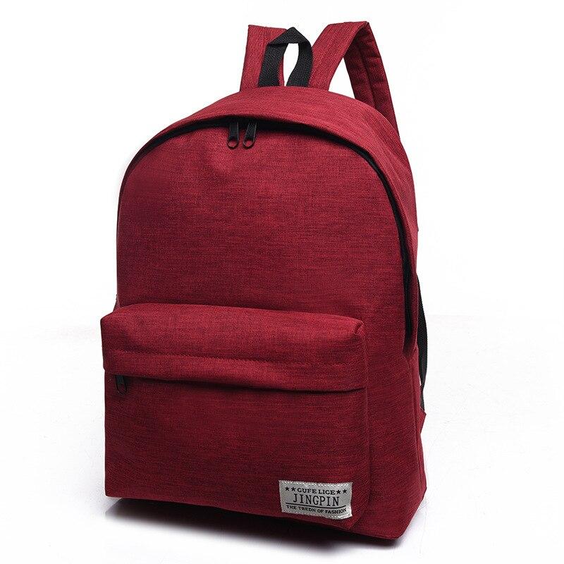 2018 Mode Rucksack Geldbörse Student Leinwand Daypack Männer Frauen Schwarz Blau Grau Qualität Marke Laptop Schulter Teenager Schule Tasche Ausreichende Versorgung