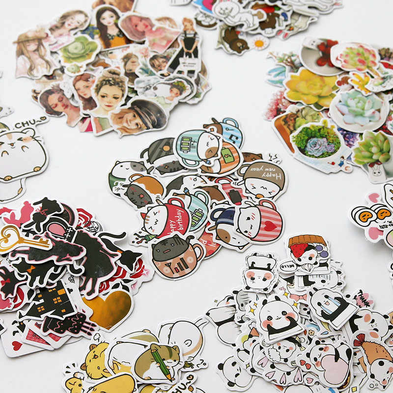 1pcs Kawaii Stationery Stickers cute Alice Wonderland pattern scrapbooking Posted It planner School journal memo Supplies