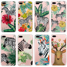 Case For iphone 5s 5 s se Case Cover Zebra Silicone Soft Shell Cover For Apple iPhone 6s 6 s 7 8 plus x 10 Bags Funda стоимость