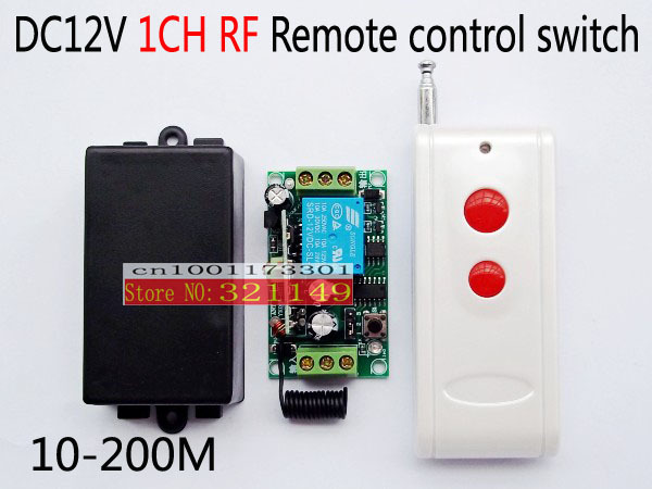 Free Shipping DC 12v wireless RF Remote Control Switch learning code swtich ,315MHZ/433mhz long distance remote control