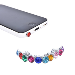 10pcs Bling Universal 3.5mm Cell Phone Earphone Plug For iPhone 6 5s/Samsung/HTC/Sony Dust Plug Headphone Jack Stopper