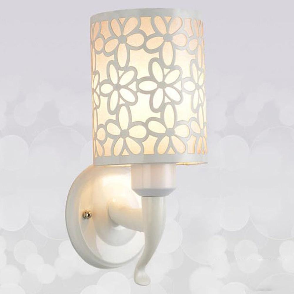 ФОТО LED fashion Carved wall light Modern minimalist wall sconce e27 Korean bedroom bedside wall lamp bathroom lights stairs lamps