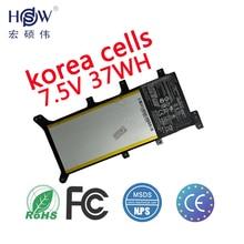 цена на 7.5V 37WH Original battery for X555 X555LA X555LD X555LN A555L 15.6