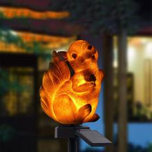 LED Solar Garden Light Squirrel Shape Nightlights Outdoor Lights Solar-Powered Lawn Lamp For Home Garden Creative Solar Lighting все цены