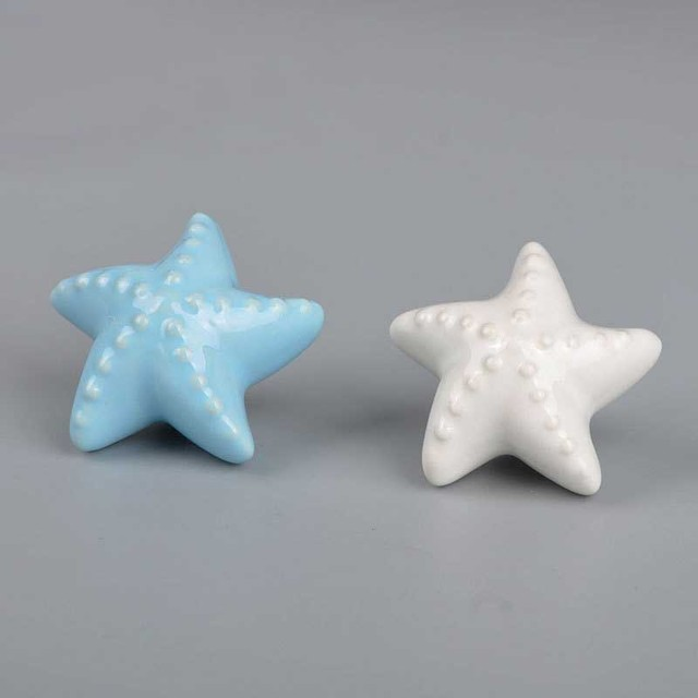 Blue White Furniture Handles Starfish Cabinet Knobs and Handles ...