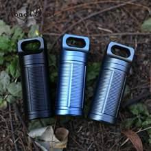 Caja de Mini píldoras de titanio para hombre y mujer, caja de píldoras a prueba de agua, para viaje y acampada al aire libre, 3 unidades