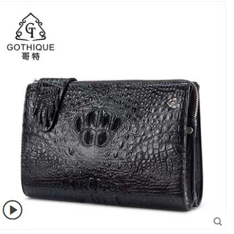 gete 2019 new Imported genuine crocodile leather hand bag for men Thai leather large capacity crocodile leather hand bag for mengete 2019 new Imported genuine crocodile leather hand bag for men Thai leather large capacity crocodile leather hand bag for men