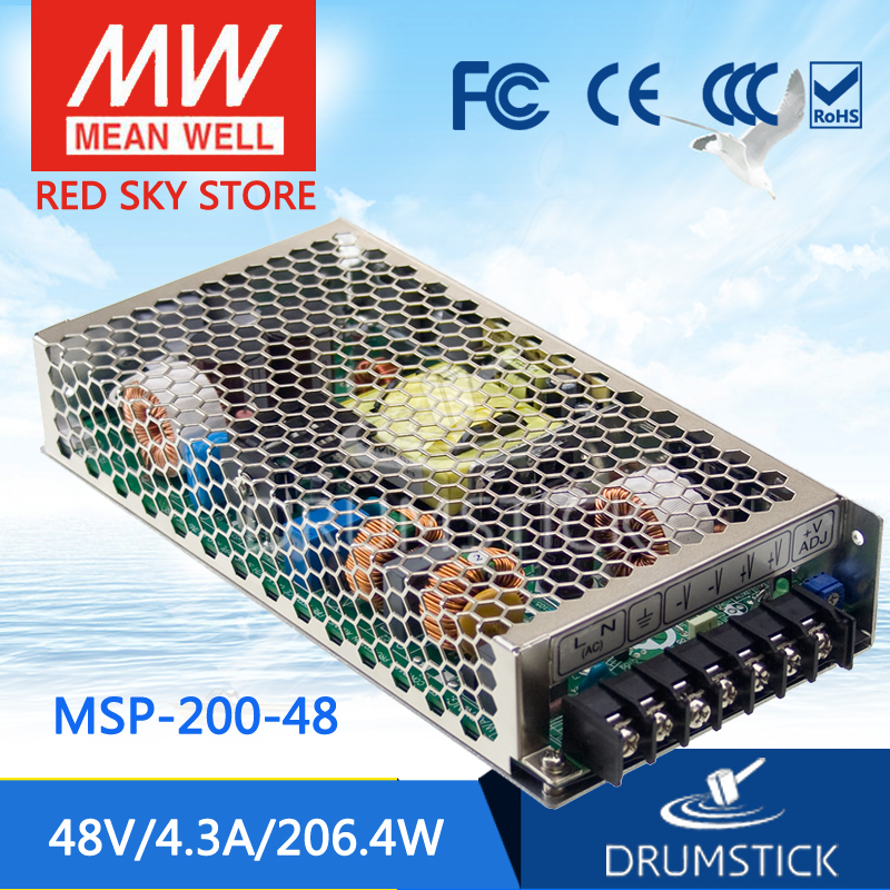 Hot sale MEAN WELL MSP-200-48 48V 4.3A meanwell MSP-200 48V 206.4W Single Output Medical Type Power Supply mean well original msp 100 24 24v 4 5a meanwell msp 100 24v 108w single output medical type power supply