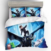 3D Printing King Size Bedding Sets How to Train Your Dragon Bedding Set Duvet Cover Bed Sheet Pillowcases Bed Linen Home Textile