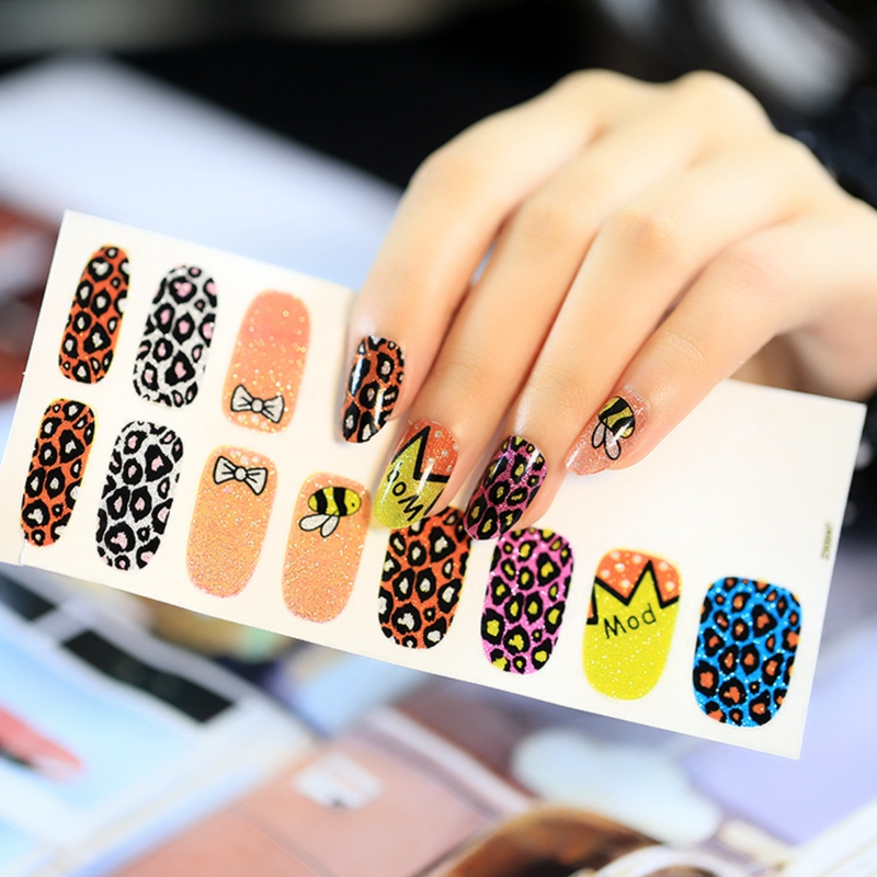 Leopard bee nail art sticker orange purple polish nail designs leopard bee nail art sticker orange purple polish nail designs stickers tooth tips decroation qq202 in stickers decals from beauty health on prinsesfo Choice Image