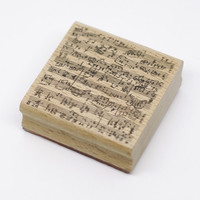 High Quality Rubber Stamps Music Design Big 6 6cm Diy Wooden Rubber Scrapbooking Stamp Free Shipping