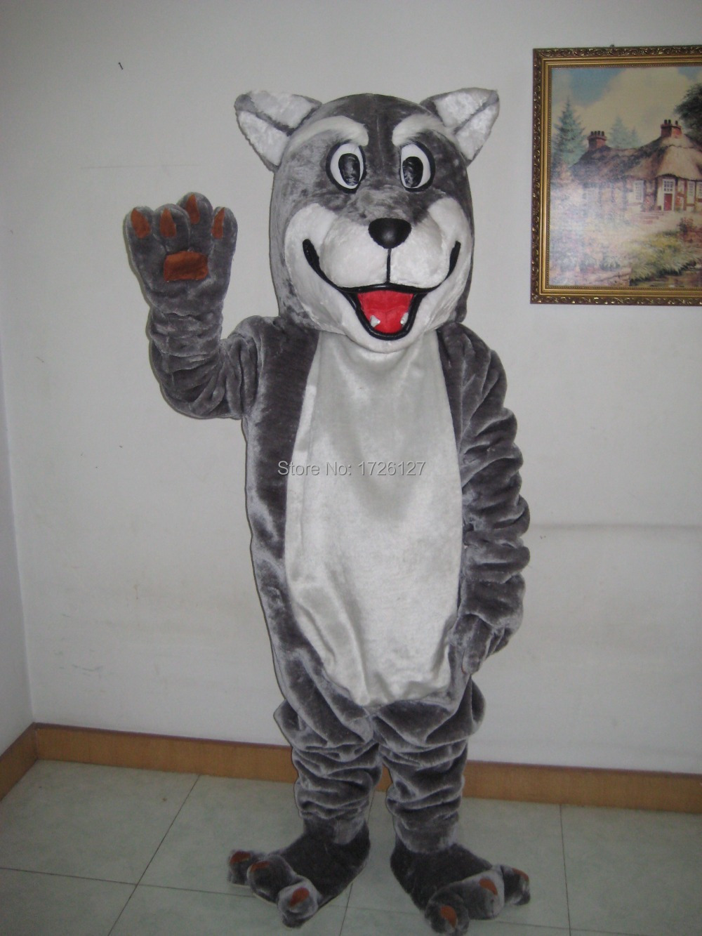 grey wolf mascot Coyote werewolf costume custom fancy costume anime cosplay kit mascotte theme fancy dress carnival costume