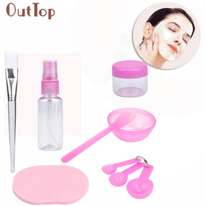 9pcs\Set OutTop Pretty Makeup Beauty DIY Facial Face Mask Bowl Brush Spoon Stick Tool High Quality cosmetics Toiletry Kits