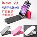 Hongbaiwei Alta Qualidade Flip up-down caso Protect Para iNew V3 Smartphone Frete grátis + Track Número