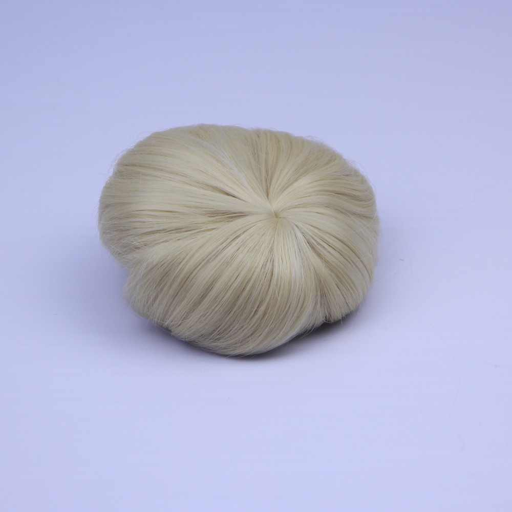 Buatan Tangan Coklat dan Emas Kawat Suhu Tinggi Wig Pendek Suit 17 ''Reborn Boneka Bayi Aksesoris Realistis Rambut Bayi
