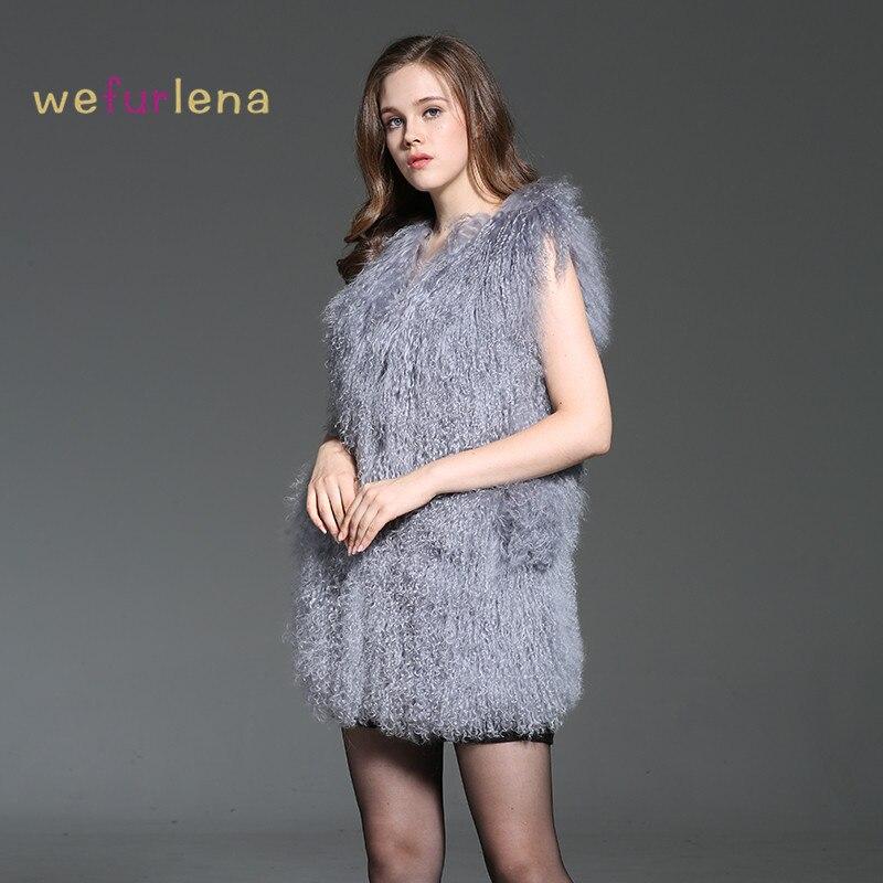 2017 Hiver Mongolie Gilet Véritable Mode Chaud Solide Femmes Cm Épais Nouvelle 75 Manteau Moutons Les Welfurlena Fourrure Naturel Vente Gris De Pour fqfvBr