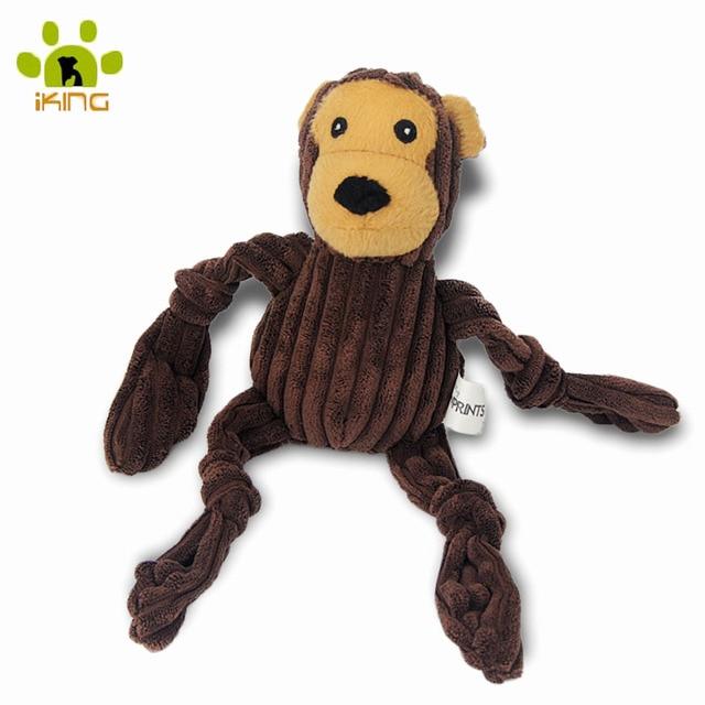 Brand Plush Corduroy New Arrival Dog Toys Pet Puppy Chew Squeaker Squeaky Plush Sound Monkey Animal Shape Toys Small Dog Toys