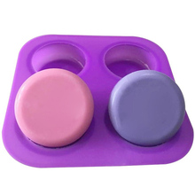 Silicone Mould Soap-Molds Cake-Decorating-Tools Sugar-Craft Muffin-Baking Circles Round