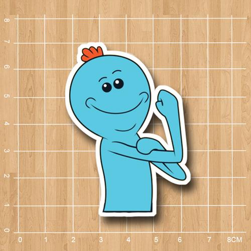 Rick and morty – Mr.Meeseeks waterproof sticker