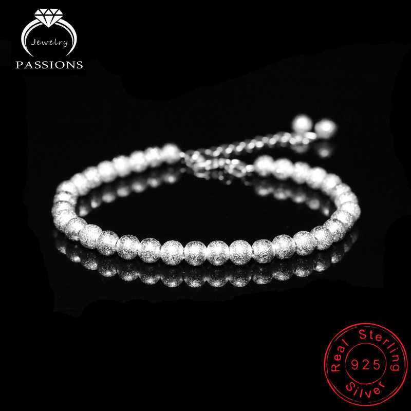 New Arrival Fashion Small Ball Beaded Bracelet Chain 925 Sterling Silver Hand Chain Bracelets For Women&Girl Fine Jewelry Gift