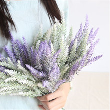 купить NieNie Artificial flowers grain decorative Simulation artificial plants PE or Silk Romantic Provence decoration lavender flower онлайн