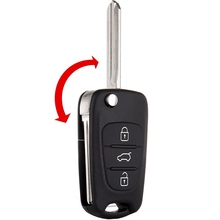 Car Remote Key Shell Case For Hyundai I20 I30 Ix35 3 Button Auto Vehicle Exterior Parts Replacement Part