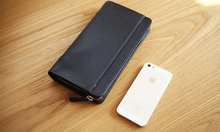LAN  men's leather handbag large capacity men's long wallet crododile fashion wallet