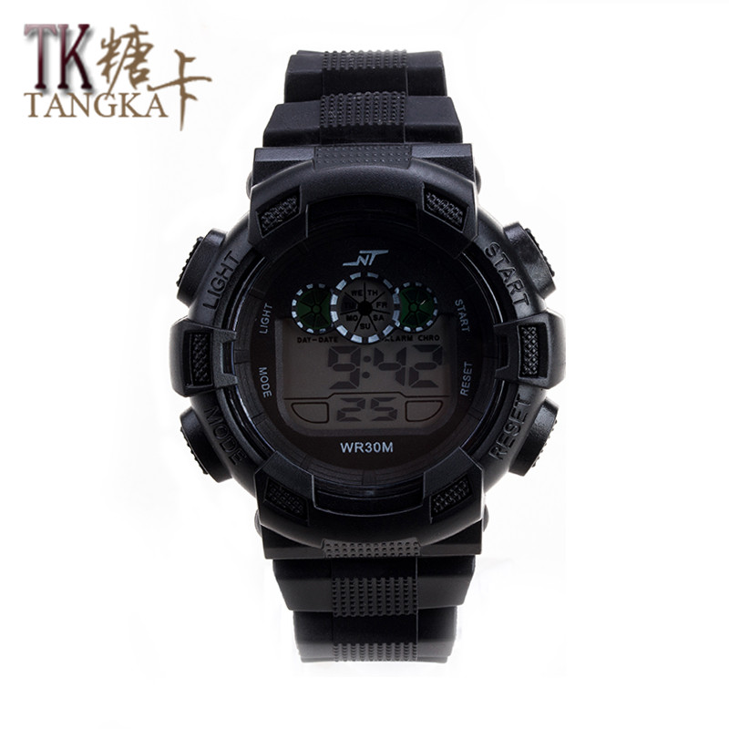 New students male watch digital display LED electronic watches silicone strap sports outdoor leisure