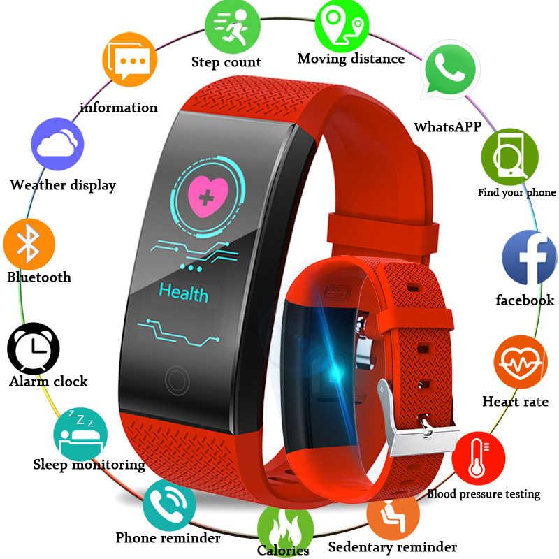 BANGWEI Новый Smar браслет кровяное давление монитор сердечного ритма Смарт часы для мужчин Баскетбол фитнес трекер умный браслет + ремешок + коробка