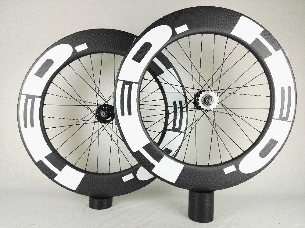 track bike carbon wheelset, 88mm clincher/tubular ,700C track bike carbon wheel,fixed gear