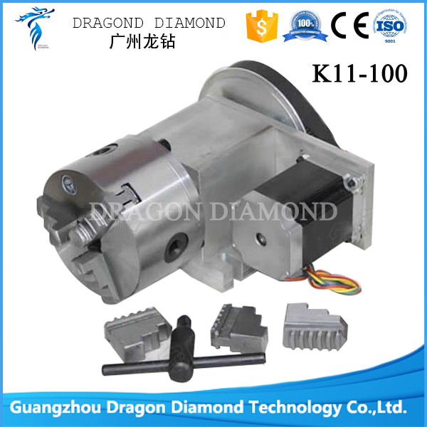 High quality CNC Dividing Head, Rotary K11-100 Three Claw Chuck (4axis Rotary Axis for the cnc router cnc engraving machine) cnc 5 axis a aixs rotary axis three jaw chuck type for cnc router