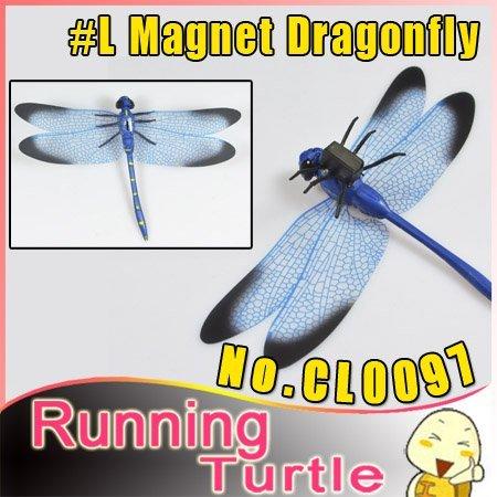 "30pcs/Lot ""EMS"" #L Dragonfly Home Decoration PVC Vivid Dragonfly Magnets For Door Fridge Car Window Gardening Home Decor #CL0097"