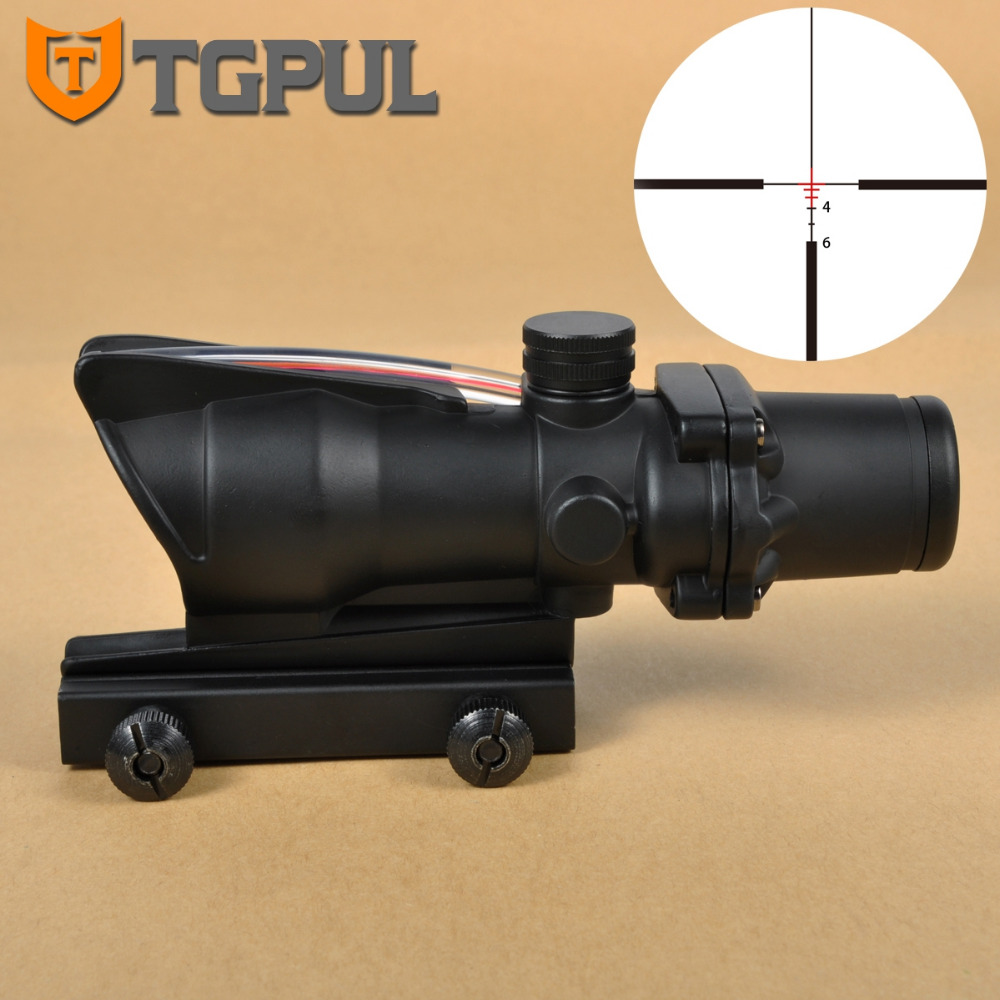 TGPUL ACOG 4X32 Rifle Scope Crosshair Device Fiber Source BDC Red & Green Illuminated Sight Tactical Hunting Scopes кроссовки asicstiger asicstiger as009aujhk94