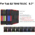 Противоударный Чехол Для Samsung Galaxy Tab S2 T810 T815C 9.7 Тяжелых долг Резиновые Трудный Случай Падения Доказательство Таблетки Hard Shell Для T815 ручка