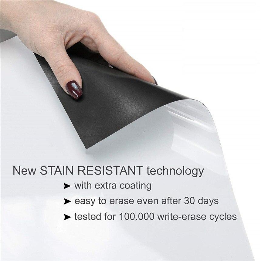 A1 tableau blanc magnétique et boîte de rangement magnétique papeterie 1 gomme 4 couleurs aquarelle stylo 3 marqueur magnétique mémo planches - 3