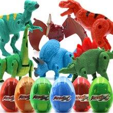 Игрушечный набор яиц для массажа динозавров для мальчика, фигурка животного, модель-трансформер, Парк Юрского периода, дракон тираннозавр, один предмет для детей