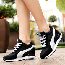 VTOTA Height Increasing Sneakers Women 2018 Platform Wedges Shoes Ladies Trainers Shoes Woman White Chunky Sneakers bambas mujer(China)