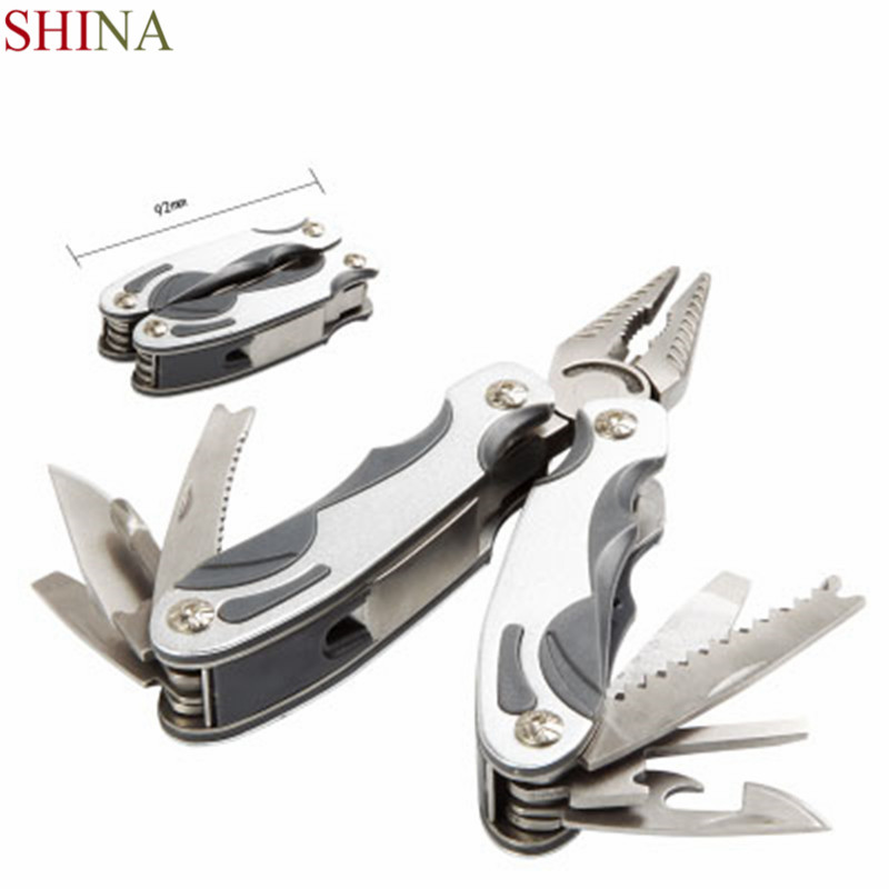 SHINA Tool In One Hand Tool Screwdriver Kit Portable Stainless Multitool Fold Pocket Folding Knife Pliers newacalox outdoor multitool pliers folding hand multi tool mini pocket knife fold screwdriver set repair survival pocket fishing