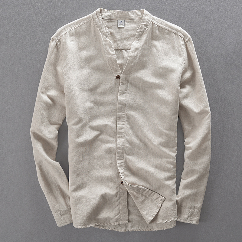 Compare prices on white linen shirts men online shopping for Shirts online shopping lowest price