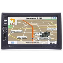 7020 г 7 дюймов 1080 P 2 DIN Аудиомагнитолы автомобильные Радио MP5 плеер Bluetooth вызова GPS навигация руль Дистанционное управление FM USB TF AUX